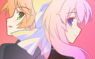 аниме, baka to test to shoukanjuu, девушки, взгляд, фон