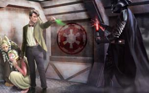 Одиннадцатый Доктор, Doctor Who, Дарт Вейдер, световой меч, Star Wars, Доктор Кто, Darth Vader, звуковая отвертка, Звёздные Войны, Matt Smith, кроссовер, Eleventh Doctor, Мэтт Смит