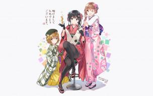 аниме, masamune shirow , artbook, девушки, взгляд, фон