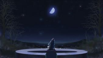 аниме, hanbun no tsuki ga noboru sora, персонаж
