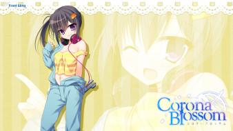 corona blossom, аниме, фон, взгляд, девушка