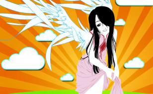 ah,  my goddess, аниме, девушка, взгляд, фон
