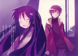 обои для рабочего стола 1920x1391 аниме, hanbun no tsuki ga noboru sora, девушка, взгляд, фон