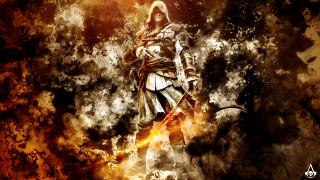 видео игры, assassin`s creed iv,  black flag, сабля, мужчина, униформа