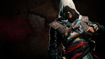 видео игры, assassin`s creed iv,  black flag, пистолет, фон, мужчина