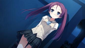 аниме, your diary, девушка, фон, взгляд