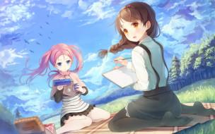аниме, your diary, девочки