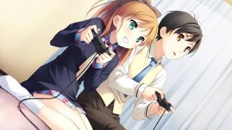 аниме, your diary, фон, девушка, взгляд