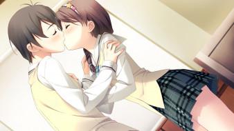 аниме, your diary, фон, взгляд, девушка
