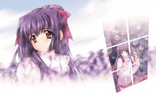 kao no nai tsuki, аниме, moonlight lady, девушка, взгляд, фон