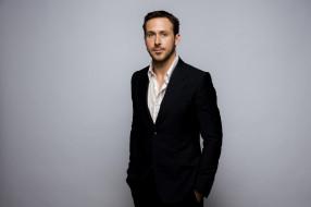 Ryan Gosling, Райан Гослинг, костюм, фон, фотосессия, пиджак, актер