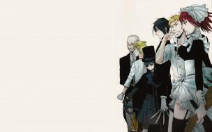 аниме, kuroshitsuji, тёмный, дворецкий