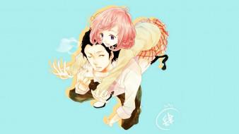 аниме, noragami, девушка, парень