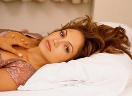 постель, подушка, певица, актриса, JLo, Дженнифер Лопез