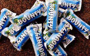 бренды, bounty, батончики, шоколадные
