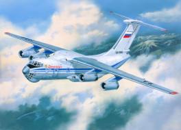 авиация, 3д, рисованые, graphic, облака