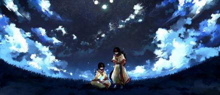 аниме, magi the labyrinth of magic, небо, двое