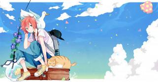 аниме, tsuritama, sanada, yuki