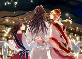 аниме, magi the labyrinth of magic, трое