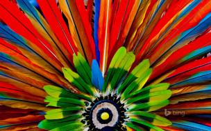 краски, головной убор, перья, ацтеки, макро