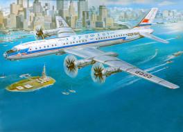 авиация, 3д, рисованые, graphic, река, ссср, аэрофлот, ретро