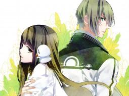 аниме, norn9, парень, девушка