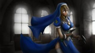 аниме, chrno crusade, оружие, девушка, christoper, rosette, пистолет