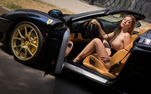эротика, девушки и автомобили, девушка, грудь, фон, взгляд