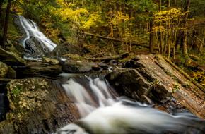 обои для рабочего стола 2048x1343 природа, водопады, лес, река, водопад