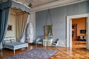 обои для рабочего стола 2048x1365 интерьер, дворцы,  музеи, спальня, кровать, зеркало