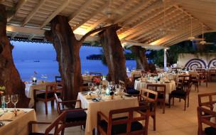 обои для рабочего стола 2880x1800 интерьер, кафе,  рестораны,  отели, море, веранда, столики, сервировка