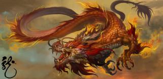 фэнтези, драконы, дракон, хвост, полет, арт, пасть