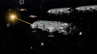 фэнтези, космические корабли,  звездолеты,  станции, космический, корабль, вселенная, полет