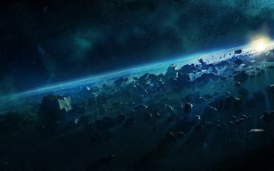 космос, арт, метеориты