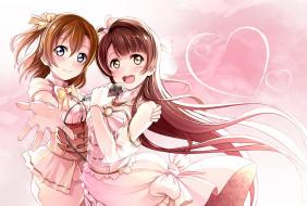 обои для рабочего стола 2022x1366 аниме, love live,  school idol project, взгляд, фон, девушки