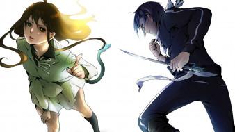 аниме, noragami, меч, Ято, икки