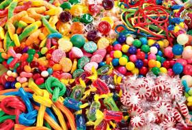 еда, конфеты,  шоколад,  сладости, ассорти, много, драже, леденцы
