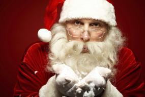 праздничные, дед мороз,  санта клаус, жест, санта