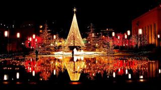 праздничные, новогодние пейзажи, иллюминация