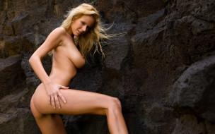 эротика, блондинки, девушка, взгляд, фон, грудь