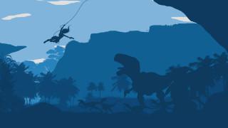 векторная графика, животные , animals, девушка, взгляд, фон, динозавры