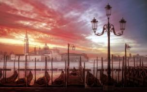 города, венеция , италия, город, венеция, закат