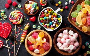 еда, конфеты,  шоколад,  сладости, леденцы, мармелад, ассорти