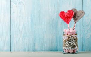 еда, конфеты,  шоколад,  сладости, сердечки, банка, драже