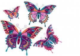 векторная графика, животные , animals, фон, бабочки, вектор