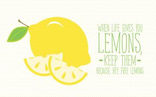 обои для рабочего стола 1920x1200 векторная графика, еда , food, цитрус, лимон, мотивация, надпись