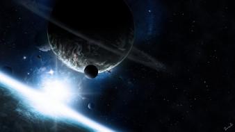 обои для рабочего стола 1920x1080 космос, арт, планеты, взрыв