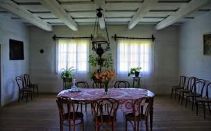 обои для рабочего стола 1920x1200 интерьер, столовая, стулья, скатерть, стол