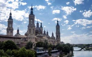 сарагоса испания, города, - католические соборы,  костелы,  аббатства, сарагоса, базилика