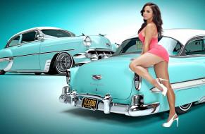 автомобили, -авто с девушками, chevrolet